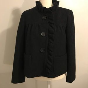 J. Crew Ruffle Wool Jacket